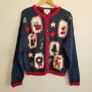 Carly St Claire Christmas Sweater Cardigan XL